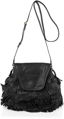 See by Chloe Black Fluffy Cherry Party Fringed Bag
