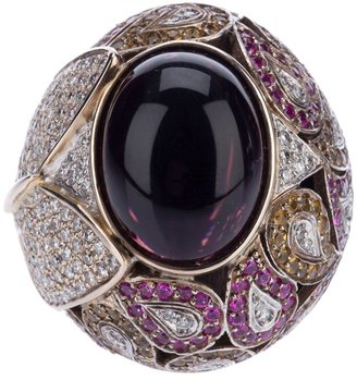 Athena pink sapphire and diamond robeline ball ring $10,694 thestylecure.com