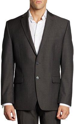 Calvin Klein Mini Herringbone Wool Suit Jacket