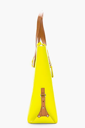 McQ by Alexander McQueen Vivid yellow patent leather Kingsland Tote