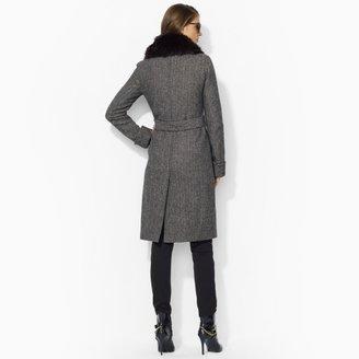 Ralph Lauren Herringbone Trench Coat