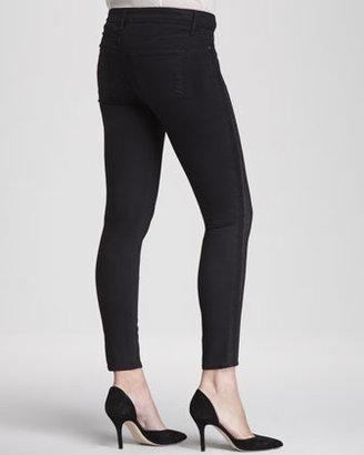 Vince Dylan Side-Pieced Skinny Jeans, Black