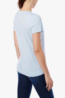 7 For All Mankind Short Sleeve Modal Tee In Ice Blue