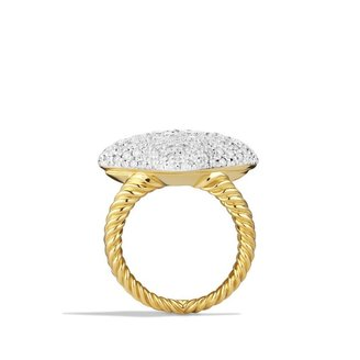 David Yurman Quatrefoil Ring with Diamonds in Gold
