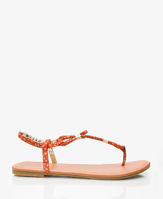Forever 21 Leopard Print Thong Sandals