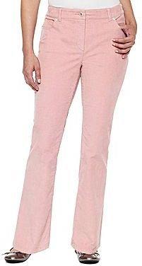 Liz Claiborne 5-Pocket Bootcut Corduroy Pants - Petite