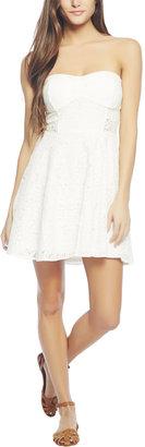 Wet Seal White Lace Tube Dress