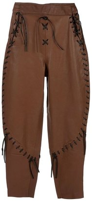 Enrico Coveri Vintage leather trousers