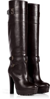 Belstaff Mahogany Leather Barton Boots