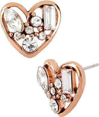 Betsey Johnson Iconic Crystal Heart Stud