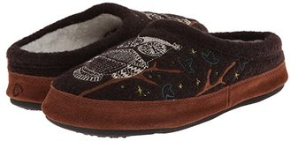 Acorn Forest Mule (Chocolate Owl) Women's Slippers