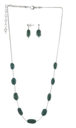 Fox Turquoise Liquid Sterling Silver Necklace &Earrings Set