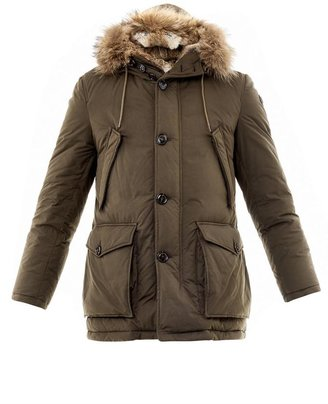 Moncler Chateaubriant fur lined down jacket