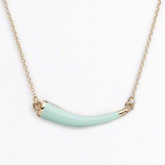 Lauren Conrad gold tone horn necklace