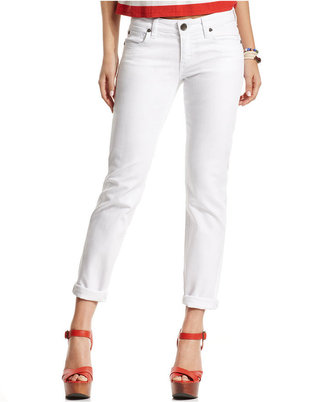 KUT from the Kloth Catherine Slim-Leg Boyfriend Jeans, White Wash