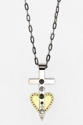 Maria Francesca Pepe MariaFrancescaPepe Cross Your Heart Necklace