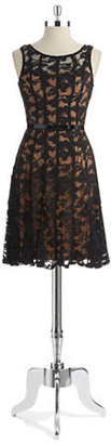 Chetta B Lace Fit and Flare Dress