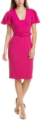 Badgley Mischka Belted Sheath Dress