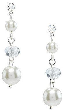 Cezanne Faux-Pearl Linear Earrings