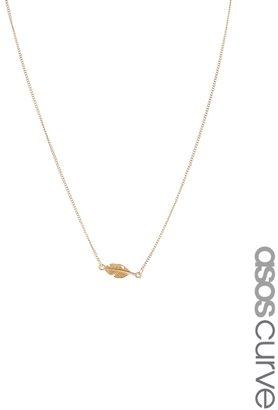 Asos Leaf Necklace - Gold