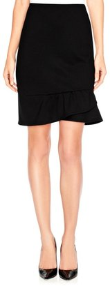 The Limited Ponte Flounce Pencil Skirt