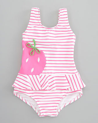 Florence Eiseman Berrylicious Striped Swimsuit, Sizes 6-9 Months