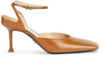 Cesare Paciotti Baby Lux Brown Leather Pumps