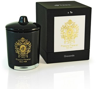 Tiziana Terenzi Black Glass Gioconda Lidded 1 Wick Candle - Capri Fig
