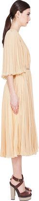 Chloé Vanilla Pleated Gown