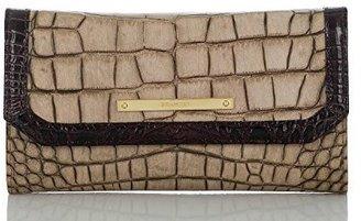 Brahmin Soft Checkbook Wallet Taupe Sienna