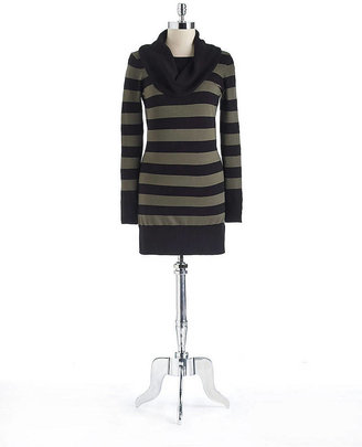 French Connection Multi-Stripe Cowl Neck Sweater Dress