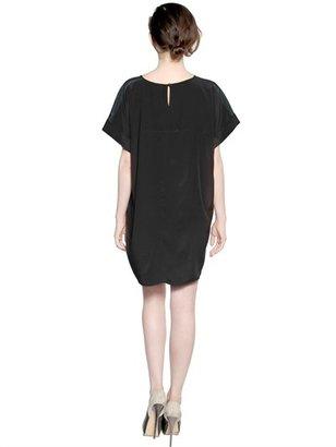 Emma Cook Printed Silk Satin Tunic Dress