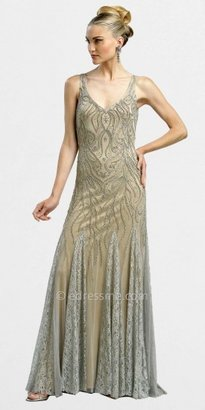 Sue Wong Long Beaded Dramatic Lace Evening Dresses