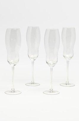 'Bubble' Champagne Flutes (Set of 4)