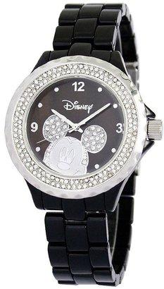 Disney Women's Mickey Black Enamel Watch