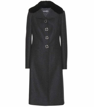 Dolce & Gabbana Wool-blend coat with embellished buttons