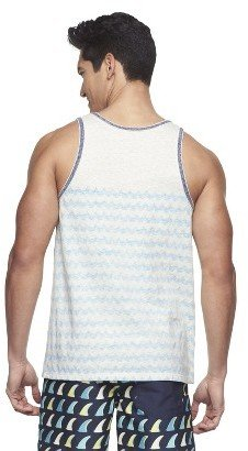 Mossimo Men's Limited Edition Printed Tank Top -Cream