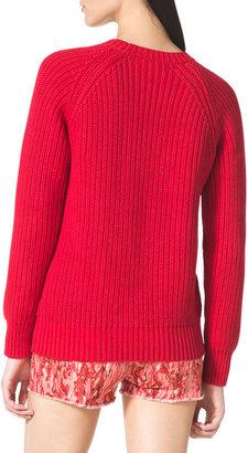 MICHAEL Michael Kors Shaker-Knit Crewneck Sweater