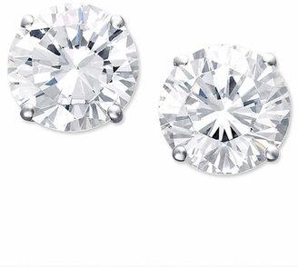 Macy's Certified Colorless Diamond Stud Earrings in 18k White Gold (1-1/2 ct. t.w.)