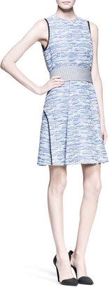 Proenza Schouler Sleeveless Cummerbund-Waist Dress