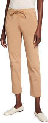 MAX MARA LEISURE Austero Stretch Cotton Ankle Pants
