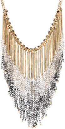Kenneth Cole New York Necklace, Beaded Chain Fringe Statement Necklace