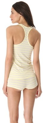Splendid Fruit Fusion Shirred Front Tank