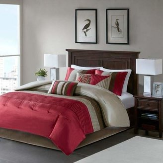 Nobrand No Brand 7pc Salem Pleated Colorblock Comforter Set