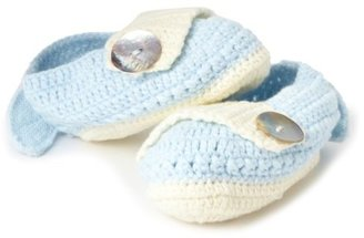 Mud Pie Baby-girls Newborn Knit Wing Baby Booties