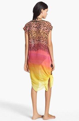 Kensie 'Neon Tide' Sheer T-Shirt Dress