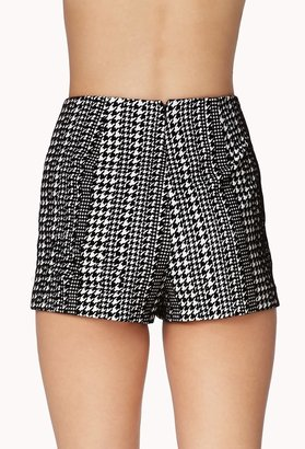 Forever 21 Remixed Houndstooth Shorts