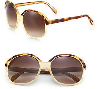 Oliver Peoples Casandra Oversized Round Sunglasses