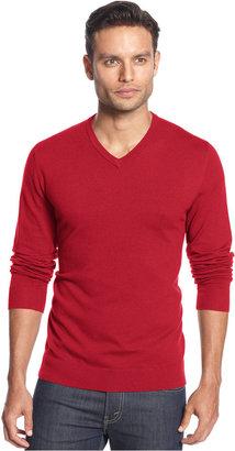 Alfani Men's V-Neck Sweater, Only at Macy's $60 thestylecure.com