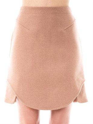 Carven Curved-hem wool skirt